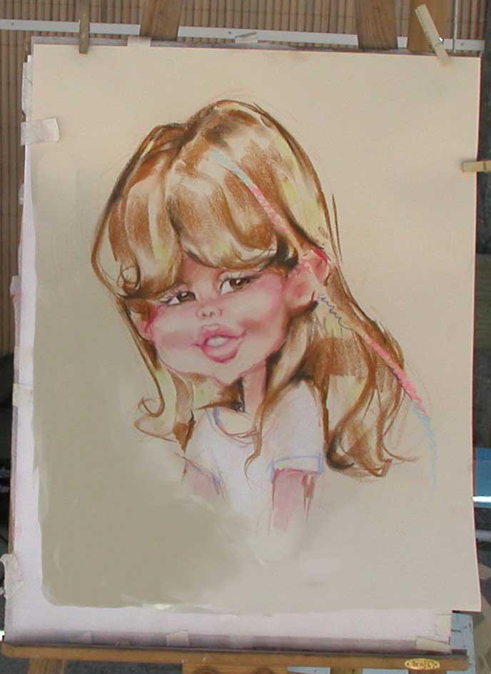 нарисовать шарж с натуры