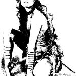 чёрно-белый поп арт