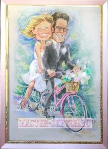 свадебный шарж в подарок