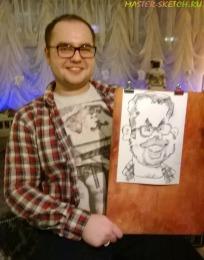 Шарж (весёлый портрет) на празднике