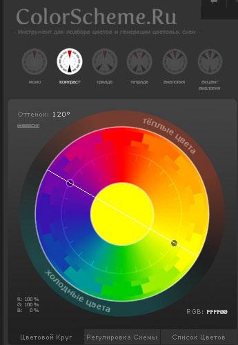 цветовой круг онлайн 2