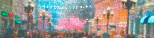 Москва — Арбат — шаржи — портреты