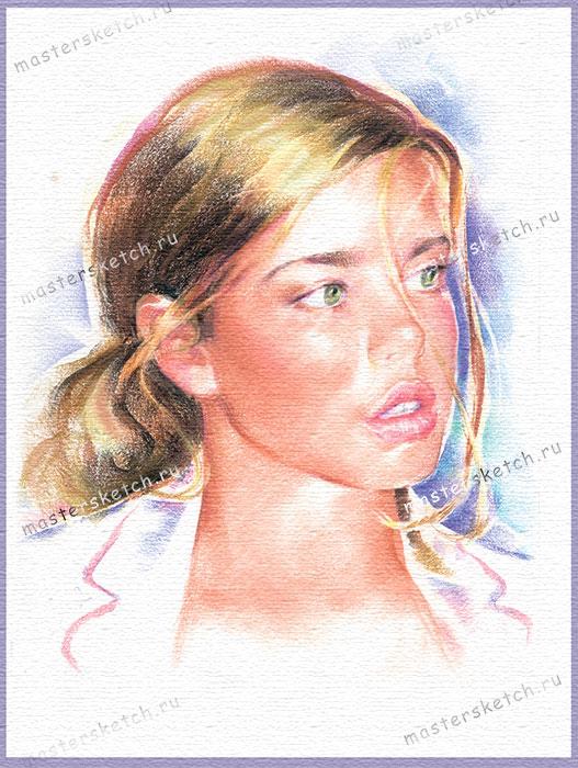 пастельный портрет по фотографии