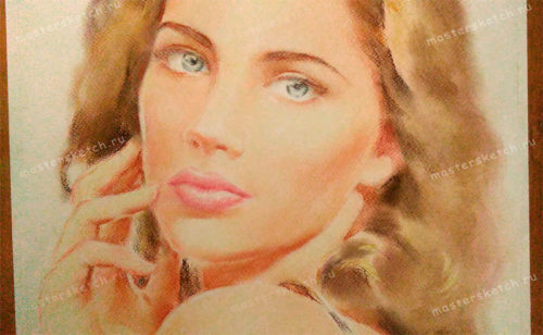 цветной портрет в технике пастель