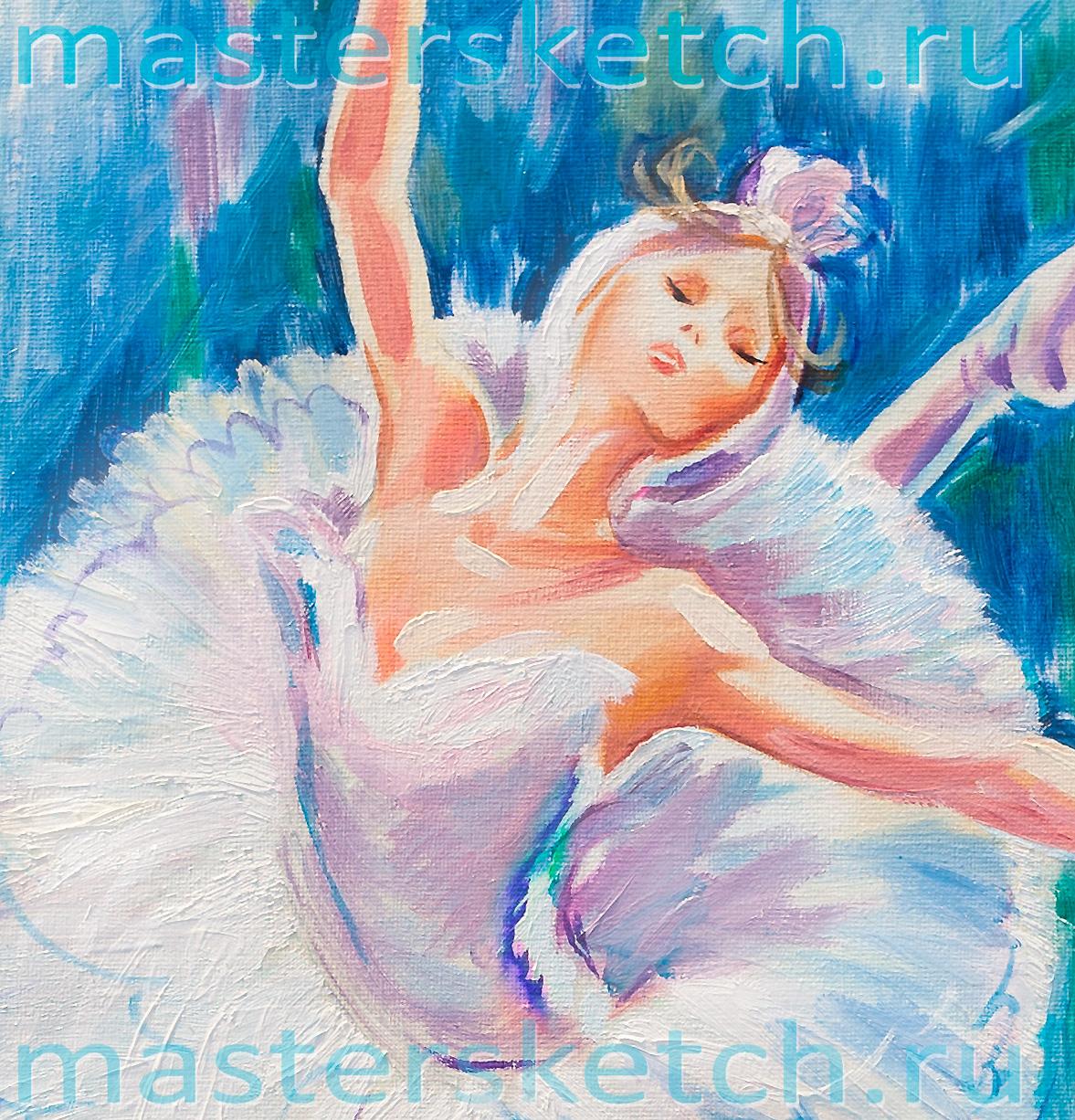 Ростовой портрет, фрагмент. Одетта — белый лебедь — балет Лебединое озеро