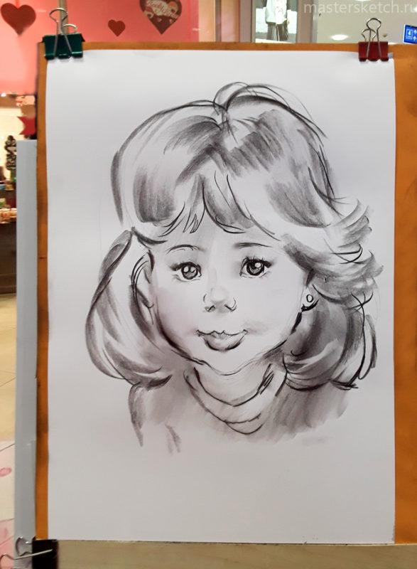 Детский портрет, портретист на праздник