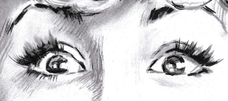 Как рисовать глаза, портрет карандашом, фрагмент