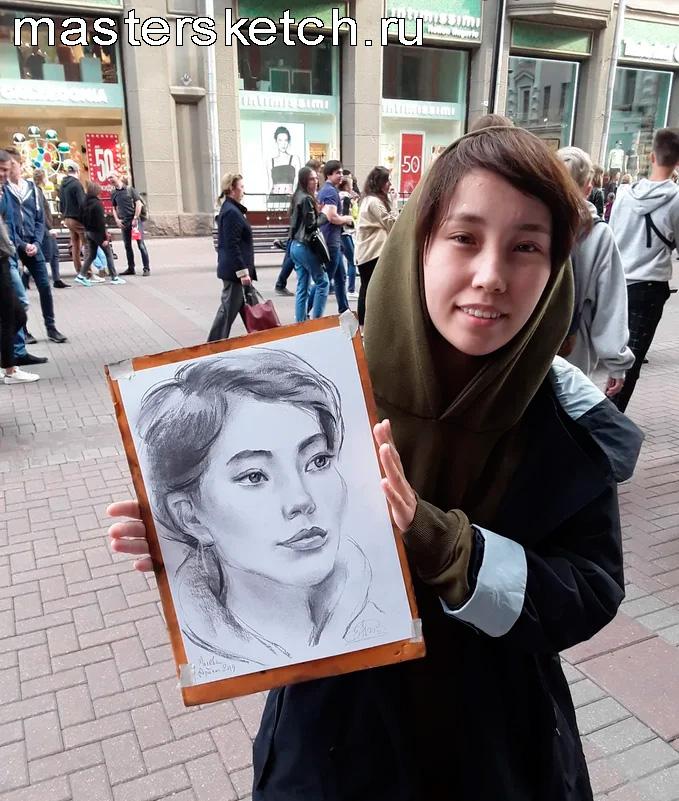 Портрет на Арбате, портретист Москва
