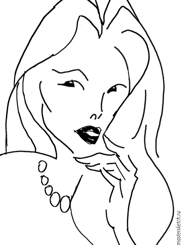 Контурный портре, fashion sketch