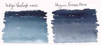 Выкраска акварельных красок. Индиго